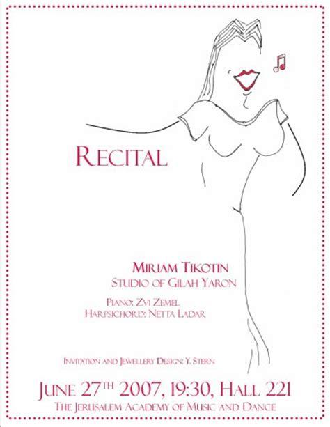 Miriam Tikotin Soprano Past Performances Recital Ad Templates