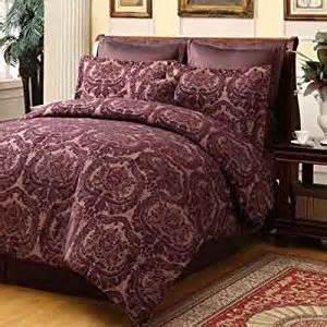 amazon com oakwood plum beige 7pc comforter set size king