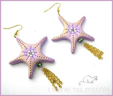 corsi per l estate quot orecchini estivi quot stella marina viola lilla quot estate 2015