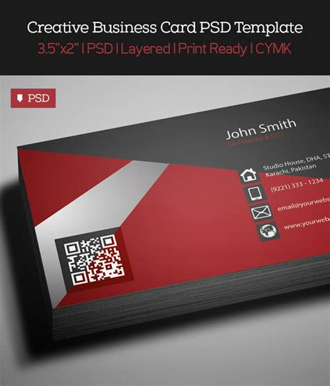free creative business card psd template freebies