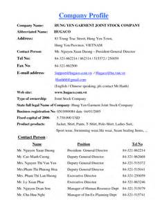 Information Technology Company Profile Template by Best Photos Of Company Profile Sle Document Sle