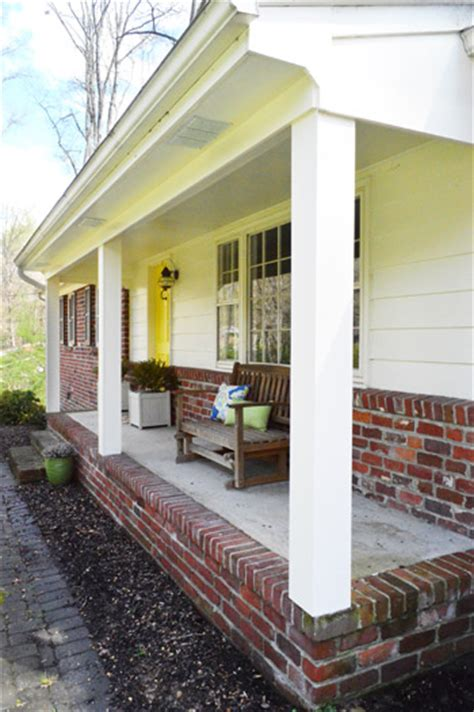 columns inside and outside the house how we boxed out our old curvy porch columns young house