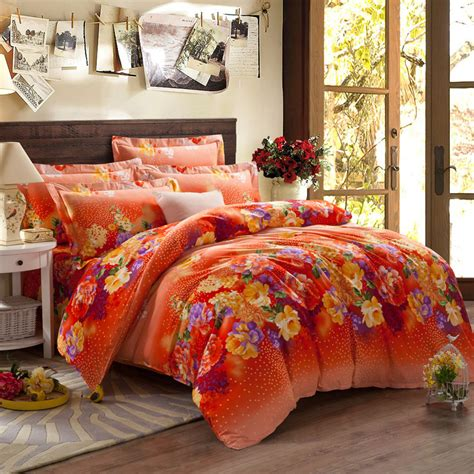 king size bed in a bag orange comforter set 5 pieces king size comforter set quilt duvet set bed in a bag orange bedding floral duvet