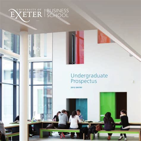 Exeter Mba Entry Requirements by Undergraduate Brochure Of Exeter Business School