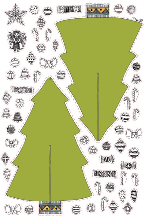 decorate your very own paper christmas tree free card