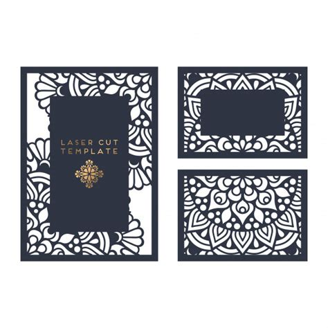 laser cut cards template vector wedding card laser cut template vector free