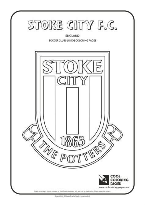 cool coloring pages stoke city fc logo coloring page