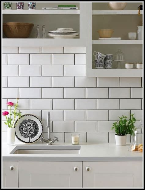 white backsplash tile white subway tile backsplash with grey grout tiles