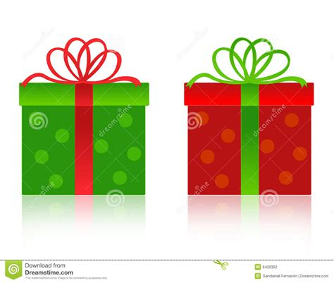 christmas gift box stock vector image of green funny
