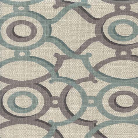 Blue And Gray Upholstery Fabric Berdi Spa Blue Gray Geometric Print Cotton Drapery Fabric