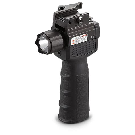 vertical grip with light vism 174 tactical vertical grip with laser flashlight