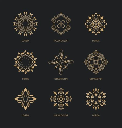 decorative ornaments decorative ornaments collection vector free