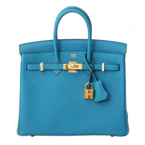 Birkin Ghillies 25 Cm Handbags 6813 1 brand new herm 232 s birkin 25 turquoise ghw for sale at 1stdibs