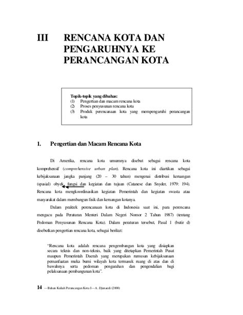 pengertian layout komprehensif 171177890 peraturan pembangunan