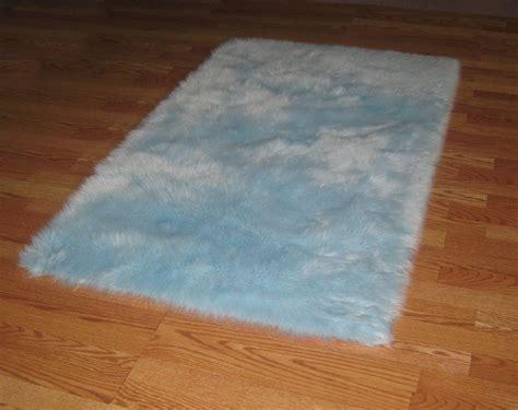 baby blue rugs baby blue flokati faux rug soft like rabbit fur 3 x 5 ebay