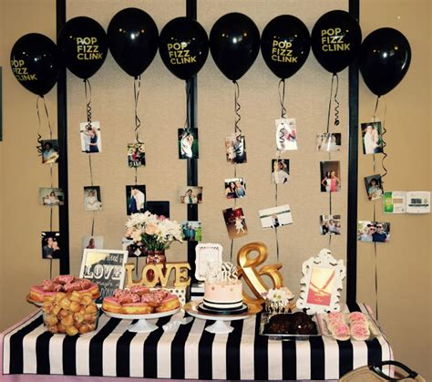 black and white bridal shower centerpiece ideas so there s kate spade themed bridal shower