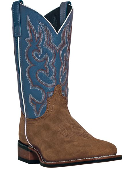 Country Boots Original Handmade Brown Black laredo mens brown leather lodi 11in square toe cowboy boots