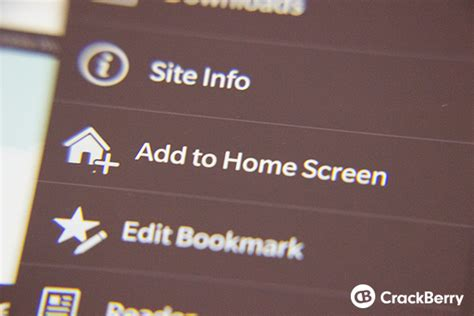 how to add a home screen shortcut for any website on