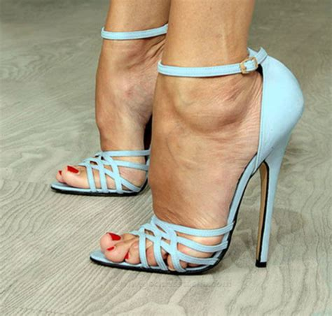 blue high sandals shoes powder blue high heel sandals wheretoget