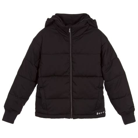 7 Jackets For Your by Dkny Black Logo Puffer Jacket Childrensalon
