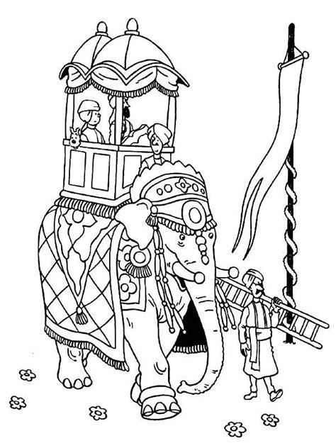 tintin tintin ride  elephant   adventures