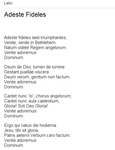 adeste fideles testo italiano adeste fideles lyrics translation traduzione italian