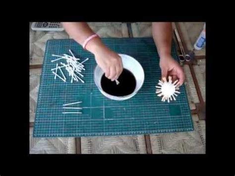 imagenes de calaveras hechas con cotonetes como hacer flores con cotonetes y unicel youtube
