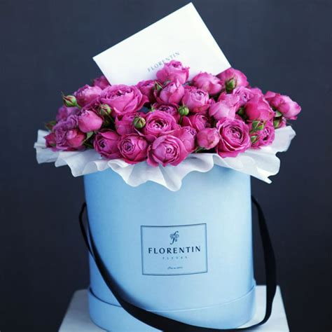 Flower Box Murah Jakarta Florist 3 blue flower box with ribbon handle and logo custom printing for flowers packaging buy
