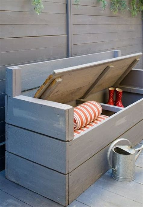 porch bench with storage 19 diy outdoor bench and storage organization ideas diy