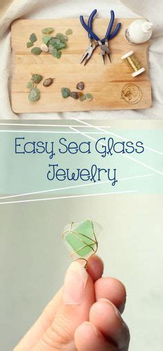 glass jewelry easy easy sea glass jewelry i ve been planning on doing this