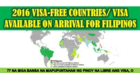 Can You Travel To Other Countries With A Criminal Record 2016 List Of Countries That Filipinos Can Visit Without