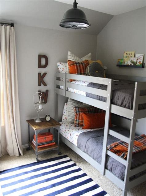 Boys Room Bunk Beds Martha Stewart Bedford Gray From Home Depot And The Ikea Bunk Beds Are Painted In One Of My