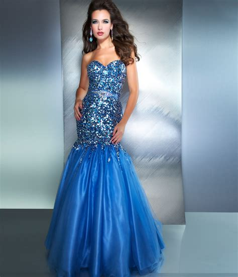 Sequined Prom Dress 7 shiny sequined mermaid trumpet prom dresses