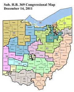 Ohio District Map by Ohio State Representative Districts Map
