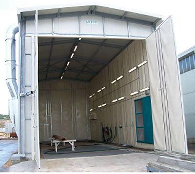 cabine di sabbiatura cabina sabbiatura e verniciatura per esterno con appendice