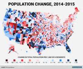 data map of us county population change map business insider