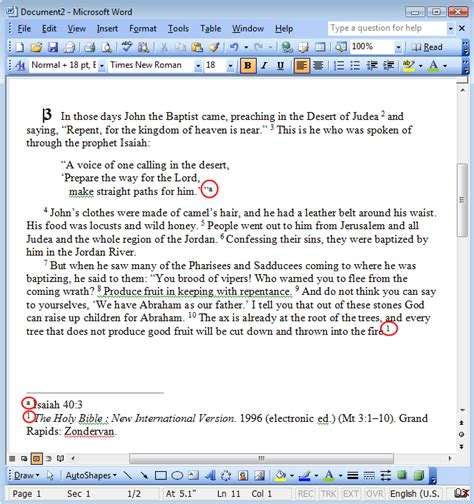 how to format a footnote in word 2010 footnote numbers not showing when pasting from logos 4 to