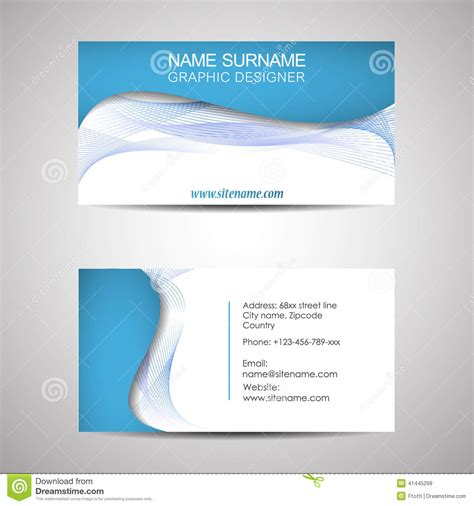 Place Card Template Stock by Abstract Business Card Template Or Visiting Card Set Stock