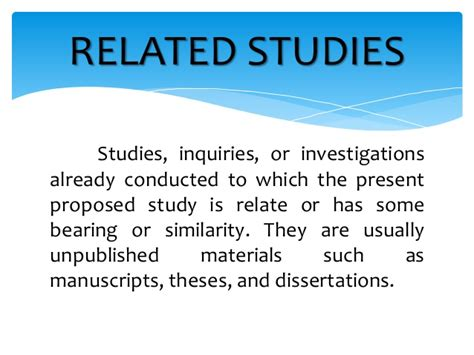 related literature  related studies