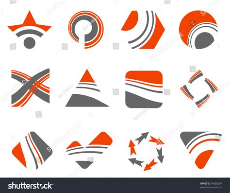 abstract design elements vector abstract design elements vector set stock vector 54655354