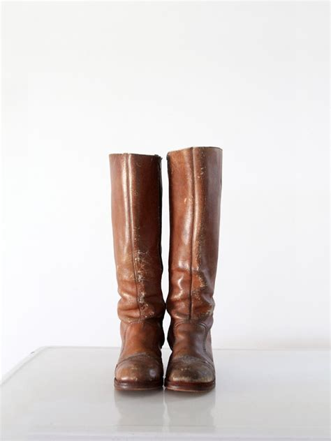 hippie boots 1970s hippie boots brown leather boots s size