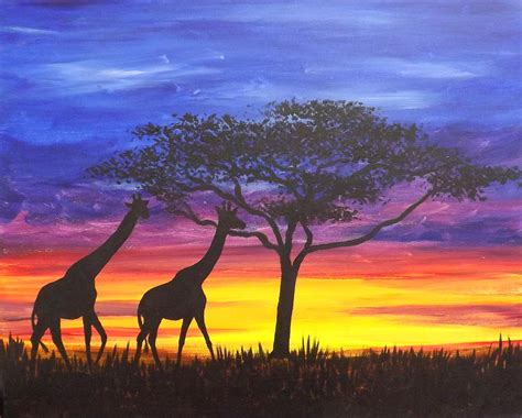 Wall Decor Home by Serengeti Sunset Painting By Darren Robinson