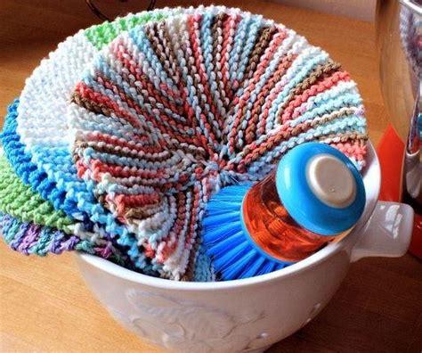 circular knitting projects eights circular dishcloth allfreeknitting