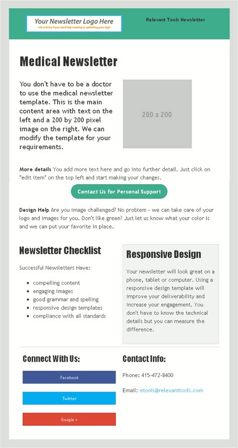responsive design html newsletter relevant tools medical responsive design newsletter