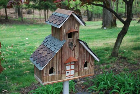15 decorative and handmade wooden bird houses style