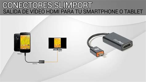 salida hdmi conectores slimport salida hdmi de tu smartphone o