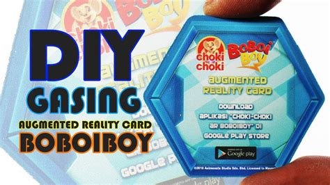 video cara membuat id card boboiboy cara membuat gasing augmeted reality card boboiboy youtube
