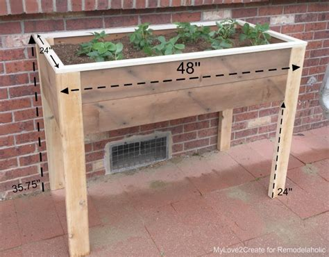 Planter Box Sizes by Remodelaholic Build An Elevated Planter Box And Save