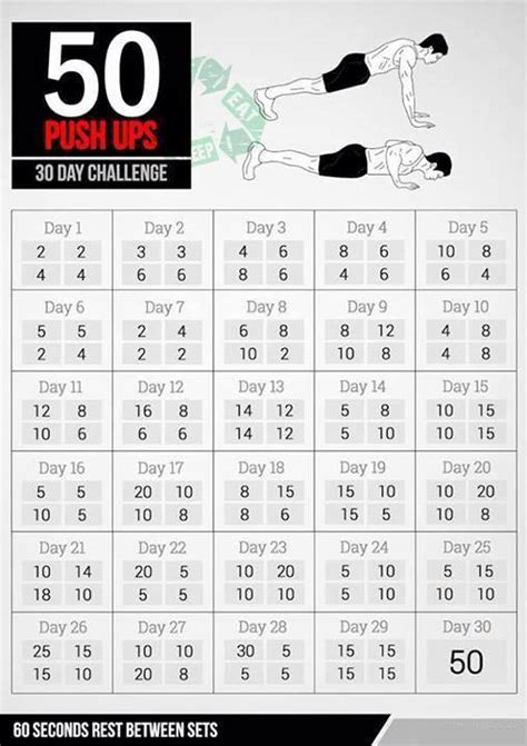 30 day bench press challenge 50 push ups 30 day challenge beast motivation