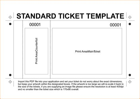 free printable ticket template 11 free printable raffle ticket template